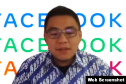 Manajer Hubungan Pemerintahan Facebook Indonesia, Noudhy Valdryno. (Foto: screenshot)