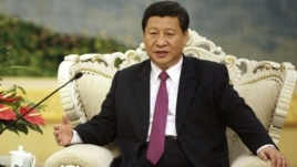 Chinese Vice President Xi Jinping meets with Egypt's President Mohammed Morsi, unseen, at the Great Hall of the People in Beijing Wednesday, Aug. 29, 2012.