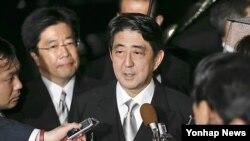 일본 자민당의 아베 신조 총재