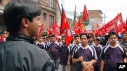 Митинг маоистов Непала на 1 мая, в Международный день солидарности трудящихся. Катманду (архивное фото)