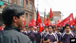 Maoists rallying on May Day in Kathmandu, Nepal, 01 May 2010