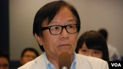 香港社運人士韓連山擔心,倡議佔領中環行動的發展,起哄的成份多於實踐 (美國之音湯惠芸)