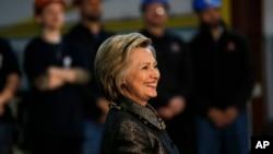 미국 대선에 출마한 민주당의 힐러리 클린턴 전 국무장관. (자료사진)