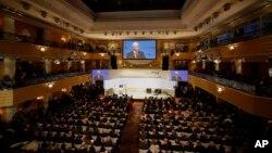 Potpredsjednik SAD Mike Pence govori na Minhenskoj konferenciji o sigurnosti, 16. februar 2019.
