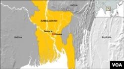 Bản đồ nơi xảy ra vụ sập nhà ở Savar, Bangladesh.