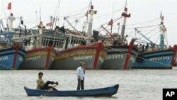 越南漁民。