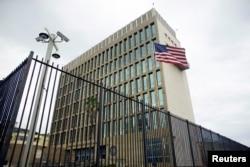 FILE - The U.S. Embassy is seen in Havana, Cuba, June 19, 2017.