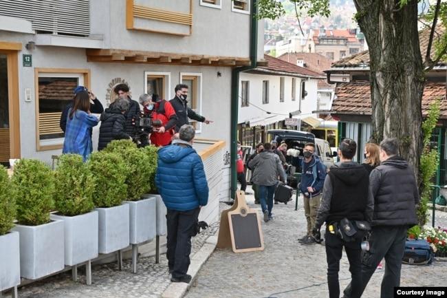 """Sa snimanja filma Danisa Tanovića """"Deset u pola"""", 3. maj 2021. (Izvor: Sarajevo Film Festival)"""