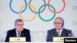 سمویل شومیت، رئیس کمیتۀ انظباطی و توماس بخ، رئیس کمیتۀ بین المللی المپیک
