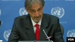 (资料照)罗卡2015年5月6日作为意大利红十字会主席在联合国发言。