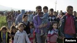 Migranti u selu Miratovac, blizu Preševa