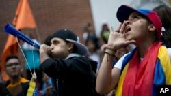 تظاهرات علیه ریاست جمهوری ونزوئلا به رویداد ثابت این روزهای کاراکاس تبدیل شده است.