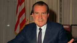 President Richard M. Nixon at his desk in the White House a few weeks after his inauguration in 1969