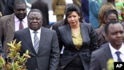 Former Prime Minister Morgan Tsvangirai and his wife Elizabeth.