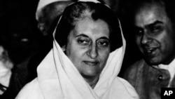 FILE - Indira Gandhi