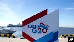 ကမာၻ႔အဓိက စီးပြားေရးနုိင္ငံေတြရဲ႕ G-20 ထိပ္သီးစည္းေဝးပြဲ၊ ရု႐ွႏိုင္ငံ။ (စက္တင္ဘာ ၄၊ ၂၀၁၃)