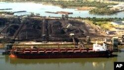 세계 최대 석탄 수출지인 뉴캐슬 항구