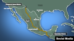 "A map showing the proposed trip by the ""caravan."""