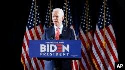 Mantan Wakil Presiden AS Joe Biden di Wilmington, Delaware, 12 Maret 2020. (Foto: dok).