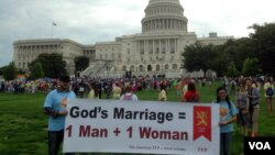 Anti-gay marriage rally outside Capitol Hill to support traditional marriage. (Photo by Diaa Bekheet)