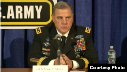 美國陸軍參謀長馬克•米萊上將2016年10月3日出席陸軍協會年度大會 (美國陸軍協會照片)
