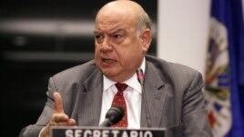 José Miguel Insulza, secretario general de la OEA destacó que el dinero será empleado en mejorar el sistema judicial de los países de América Latina.