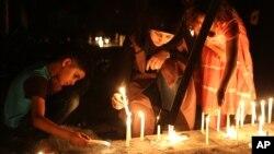 Recordando as vítimas dos ataques, Bagdad, Iraque.