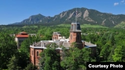 "Boulder, Colorado, in the Rocky Mountain foothills, is home to the University of Colorado (shown here). Boulder finished fifth in Amazon's list of America's ""well-read"" cities. (University of Colorado)"