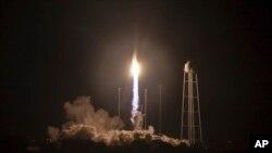 Ілюстративне фото. Запуск ракети-носія Антарес 17 жовтня 2016 року. Фото Bill Ingalls/NASA via AP