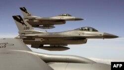 Истребители F-16 Национальной гвардии США