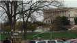 An unauthorized homemade gyrocopter lands on the U.S. Capitol grounds, April 15, 2015.