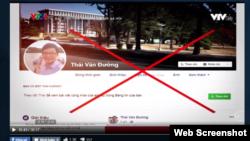 Trang Facebook của nhà báo độc lập Đường Văn Thái.