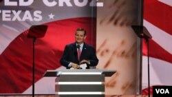 泰德·克鲁兹在共和党全国代表大会上发言。(2016年7月20日)