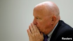 FILE - U.S. Rep. Kevin Brady, R-Texas, chairman of the House Ways and Means Committee, sits for an interview with Reuters journalists in Washington, July 19, 2017.