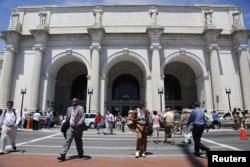 Union Station, vừa là trạm metro vừa là trạm dừng Amtrak ở Thủ đô Washington, D.C.
