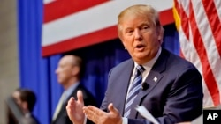 FILE - Republican presidential candidate Donald Trump's anti-Muslim comments have sparked reaction worldwide.