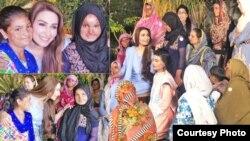 اداکارہ ریما خان، تیزاب سے مثاثرہ خواتین کے ساتھ