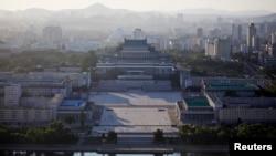 Quang cảnh chụp từ một tour du lịch do nhà nước Bắc Triều Tiên kiểm soát. Anh Warmbier bị bắt khi đang tham gia tour du lịch tại đây. Ảnh: Reuters.