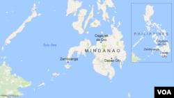 ແຜນທີ່ Mindanao, ຟິລິບປີນ
