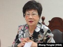 台湾前副总统 吕秀莲(美国之音 张永泰拍摄)