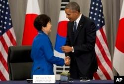 Barak Obama və Park Guen-hye