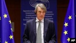 د اروپا د پارلمان رئیس ډیویډ ساسولي د جایزې د اعلانولو پر وخت