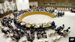 联合国安理会会议会场(资料照片)