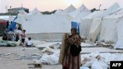 Лагерь сирийских беженцев в Турции.
