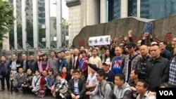 """网络图片 公民及在押律师家属赴长沙围观谢阳律师""""庭审"""""""