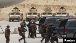 지난해 5월 요르단에서 연합 군사훈련 중인 미국-요르단 연합군.