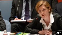 Samantha Power, Duta Besar Amerika Serikat untuk PBB di markas PBB di New York.