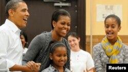 Барак Обама в кругу семьи