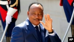Le président Mahamadou Issoufou à Paris, 17 mai 2014.