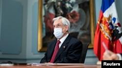 Presiden Chili Sebastian Piñera di Santiago, Chili, 15 Juni 2020. (Foto: dok).